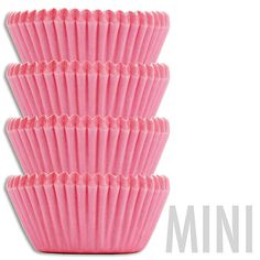 Mini Solid Pink Baking Cups