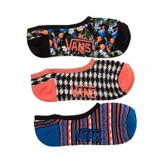 Shop for Womens Vans Floral Liners 3 Pack in MULTI at Journeys Shoes. Shop today for the hottest brands in mens shoes and womens shoes at Journeys.com.Step into style with the new Floral Liners from Vans. Featuring floral, houndstooth, and tribal striped prints, the Floral Liners will be something you want to show off! Only available at Journeys and SHI by Journeys!