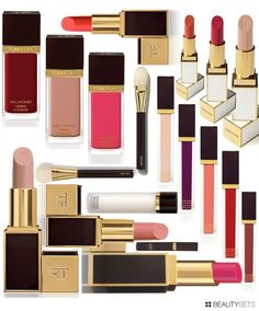 Tom Ford Beauty Colors - http://www.beautysets.com/sets/26905 - Looks Lips Nails