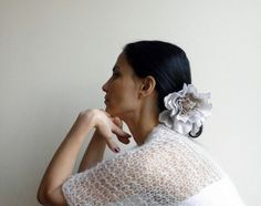 White shrug / shawl  boho  kimono sleeve by Accessorise