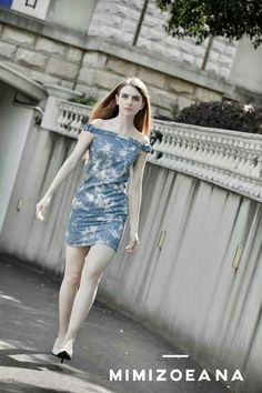 Smart denim dress, very  comfortable fabric for summer. - Designed and made by MINIZOEANA