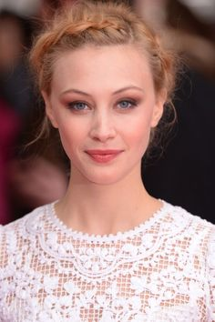 Why This Actress Will Never Wear a Nude Lip: Trust us when we say that Sarah Gadon is about to be everywhere. Sarah Gadon, Plaits Hairstyles, Wedding Hairstyles, Updo Hairstyle, Lauren Conrad, Sarah Lynn, Chignon Wedding, Hollywood, Nude Lip
