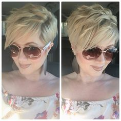 Colorful & Stylish Easy Pixie Haircut Ideas - Short Pixie Cut 2019 - 2020 Stylish Easy Pixie Haircut for Women - Cute Short Hairstyle IdeasStylish Easy Pixie Haircut for Women - Cute Short Hairstyle Ideas Haircuts For Fine Hair, Short Pixie Haircuts, Cute Hairstyles For Short Hair, Pixie Hairstyles, Short Hair Cuts, Short Hair Styles, Blonde Pixie Haircut, Blonde Hair, Short Blonde