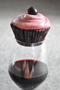 Red Wine Cupcake..what
