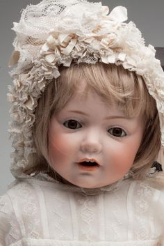 "J. D. KESTNER GERMAN BISQUE-HEAD ""HILDA"" CHARACTER DOLL= Oma had this mold and made beautiful ""Hilda"" Dolls."