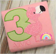 Pink Flamingo Birthday Pajamas - Pink Flamingo - Flamingo Pajamas - Flamingo Party - Birthday Pajamas - Flamingo -Personalized Pajamas