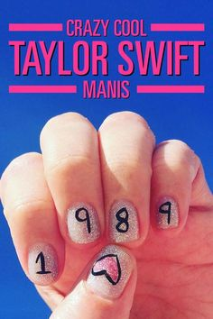 Swifties: Get These Crazy Cool Taylor Swift Manis on Your Nails Taylor Swift Nails, Taylor Swift Shirts, Taylor Alison Swift, Cat Nail Art, Cat Nails, Thing 1, Sally Hansen, Nail Care, You Nailed It
