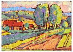 Image result for pastel landscape drawing