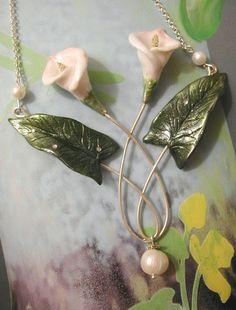Calla lily necklace by Ali di Libellula, via Flickr