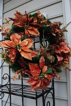 Pheasant Run Christmas Wreath by YourDecoratedDoor on Etsy, $45.00