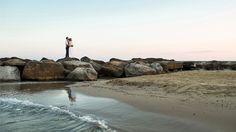 symbolic wedding ceremony on the beach in italy