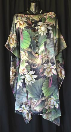 100 Silk Lotus Flower Kaftan by MollyKaftans on Etsy, $119.00