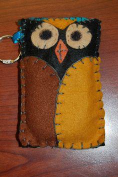 Felt Owl cell phone case