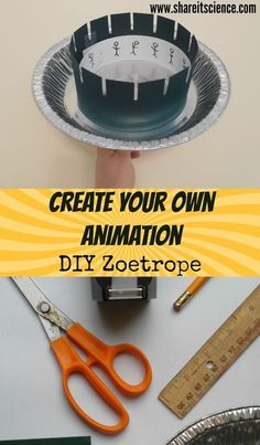 Going Deeper: DIY Zoetrope Animation STEAM Project. Create your own animation with this project that combines science, engineering and art Stem Science, Science Fair, Teaching Science, Science For Kids, Science Classroom, Science Education, Earth Science, Physical Science Projects, Stem For Kids
