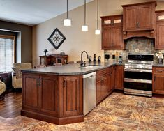 Kitchen Color Ideas With Cherry Cabinets traditional dark wood-cherry kitchen cabinets #53 (kitchen-design