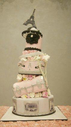 Paris Eiffel Tower Themed Cake Paris Themed Wedding Cake Paris Themed Birthday Cake Paris Themed Wedding Cake Pink and Black Paris Theme Cake Paris Themed Cakes, Paris Cakes, Theme Cakes, Fancy Cakes, Cute Cakes, Gorgeous Cakes, Amazing Cakes, Divorce Cake, Bolo Paris