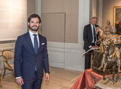Today, Prince Carl Philip opened an exhibition at Strömsholm Palace.