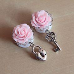 Image of Key To My Heart Plugs/Earrings