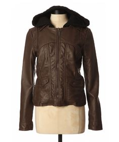 bootlegger.com : kismet cindy pleather hooded jacket in brown - also available in black and charcoal