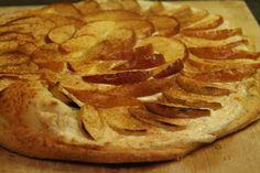 Flammekueche sucr�e aux pommes et � la cannelle