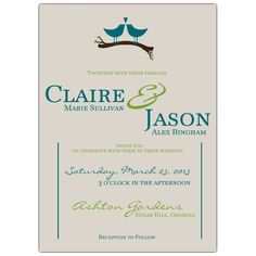 wedding invatation with birds | ... wedding invitations sku 608 57 401 love birds wedding invitations size