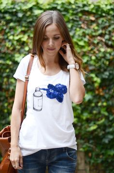 Merrick's Art // Style + Sewing for the Everyday Girl: SEQUIN SPRAY TEE (TUTORIAL)