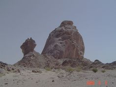 Mount Homl area - Who took a bite out of the left rock?