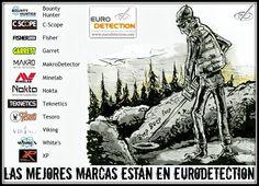 ¡¡Las mejores marcas de detectores de metales confían en www.eurodetection.com y lo sabes...!! #Eurodetection