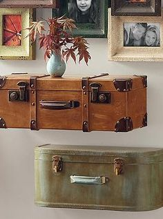 Set a vintage tone in your home with the World Traveler Wall Shelves that offer character and charisma in any room.