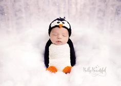 Poppy Penguin Hat and Cocoon Set Knit   Craftsy