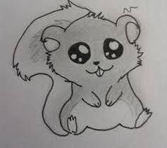 dessin écureuil kawaii | dessin d'animaux - Recherche Google | Dessin animaux mignon ...