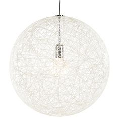 Random II Pendant Light by Moooi - Color: White - Finish: Chrome - Globe Pendant, Lantern Pendant, Pendant Set, Pendant Lamp, Eclectic Pendant Lighting, Contemporary Pendant Lights, Contemporary Style, Ball Lights, Globe Lights