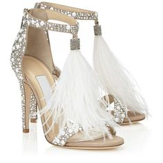 """Jimmy Choo 2016 silver heels, tassels what more could you want for your wedding shoe! Beautiful blue wedding shoes with fabulous decorative embelishment; add that """"something blue"""" to your wedding day look. Bridal Shoes, Wedding Shoes, Beige Wedding, Trendy Wedding, Wedding Makeup, Lace Wedding, Dream Wedding, High Heels Stilettos, Stiletto Heels"""