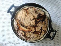 smaki i aromaty: Chleb pszenno-żytni pieczony w żeliwnym garnku