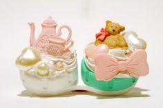 Tea Time Decoden Contact Case by KawaiiKastle on Etsy,