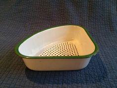 A personal favorite from my Etsy shop https://www.etsy.com/listing/253902330/vintage-enamel-corner-sink-strainer