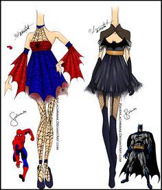 SpiderMan and BatMan Inspired Design by ~ravenlachrimae on deviantART