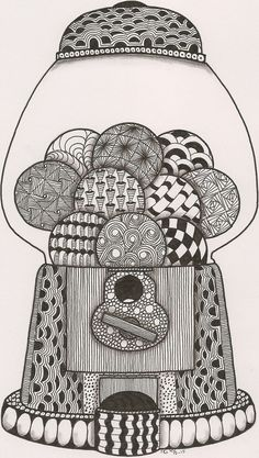 Zentangle House & Garden house for sale garden grove ca Zentangle Drawings, Zentangle Patterns, Doodle Drawings, Doodle Art, Zentangles, Mandala Art, Art Zen, Coloring Books, Coloring Pages