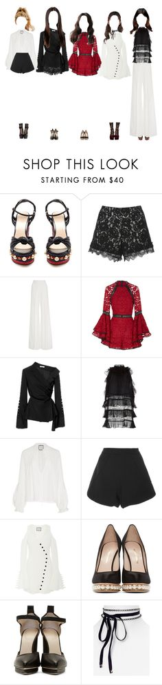"""《EXCITING》Promise MYSELF at Inkigayo"" by promise-official ❤ liked on Polyvore featuring Gucci, Alexis, Adeam, J. Mendel, Nicholas Kirkwood, Christopher Kane, Nasty Gal and Aqua"