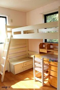 DIY子供部屋のリフォーム③2段ベッドを子供が憧れるロフトベッドに大変身!