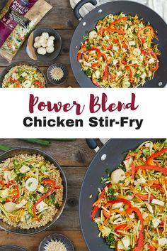 Power Blend Chicken Stir-Fry served with Quinoa   Mann's Fresh Vegetables
