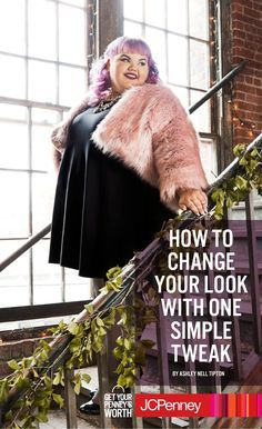 "Ashley Nell Tipton says to ""Keep it simple with a black dress under the fur and let the fur do all the talking."" That is, if your date will ever shut up about how beautiful you look. This is the perfect example of how one simple add-on can effortlessly take your sexy plus-sized look from day into night in one bold, plush move!"