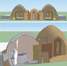 Added Lofts to the 3-Dome Cluster for Crowdfunding Campaign – Click to Visit Page, http://www.onecommunityglobal.org/construction-camp-setup-and-maintenance/