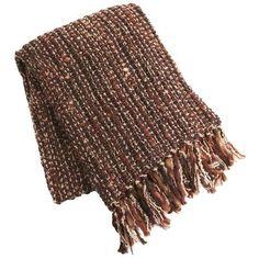 Lurex Stripe Throw - Brown