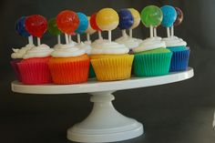 @Lokelani Kipili'i, these are really cute too! Except have the cake part multi-colored. I like the lollipop topper!