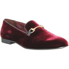 Poste Aristocrat Snaffle Loafers ($130) ❤ liked on Polyvore featuring mens, men's shoes, men's loafers, burgundy velvet, men, shoes and smart