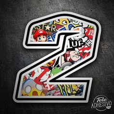 Pegatinas: Número 2 Speed Stickerbomb #pegatinas #numero #adhesivo #decoracion #moto #coche #TeleAdhesivo
