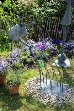 Hand-Forged Metal Garden Sculptures by Christopher Lisney