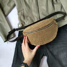 Handmade Handbags, Handmade Bags, Crochet Summer Dresses, Crochet Pouch, Belt Pouch, Hip Bag, Crochet Handbags, Trendy Accessories, Knitted Bags