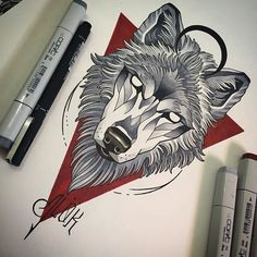 No photo description available. Tribal Wolf Tattoo, Wolf Tattoo Sleeve, Wolf Tattoos, Arm Tattoos, Sleeve Tattoos, Chest Tattoo, Animal Tattoos, Tattoo Sketches, Tattoo Drawings